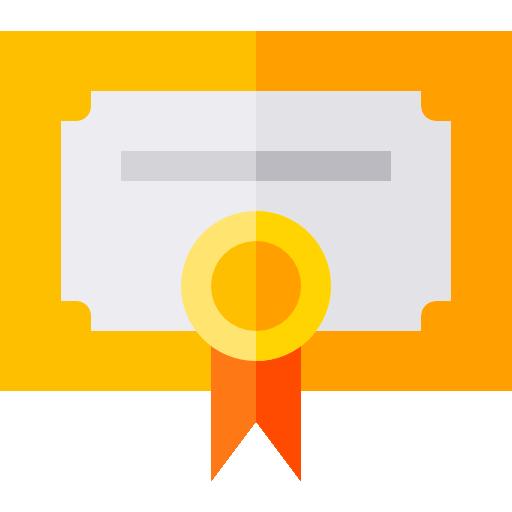 Icone certificado conclusão
