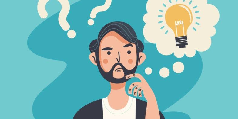 Como me tornar o profissional da LIbras?  Rapaz de barba pensativo.