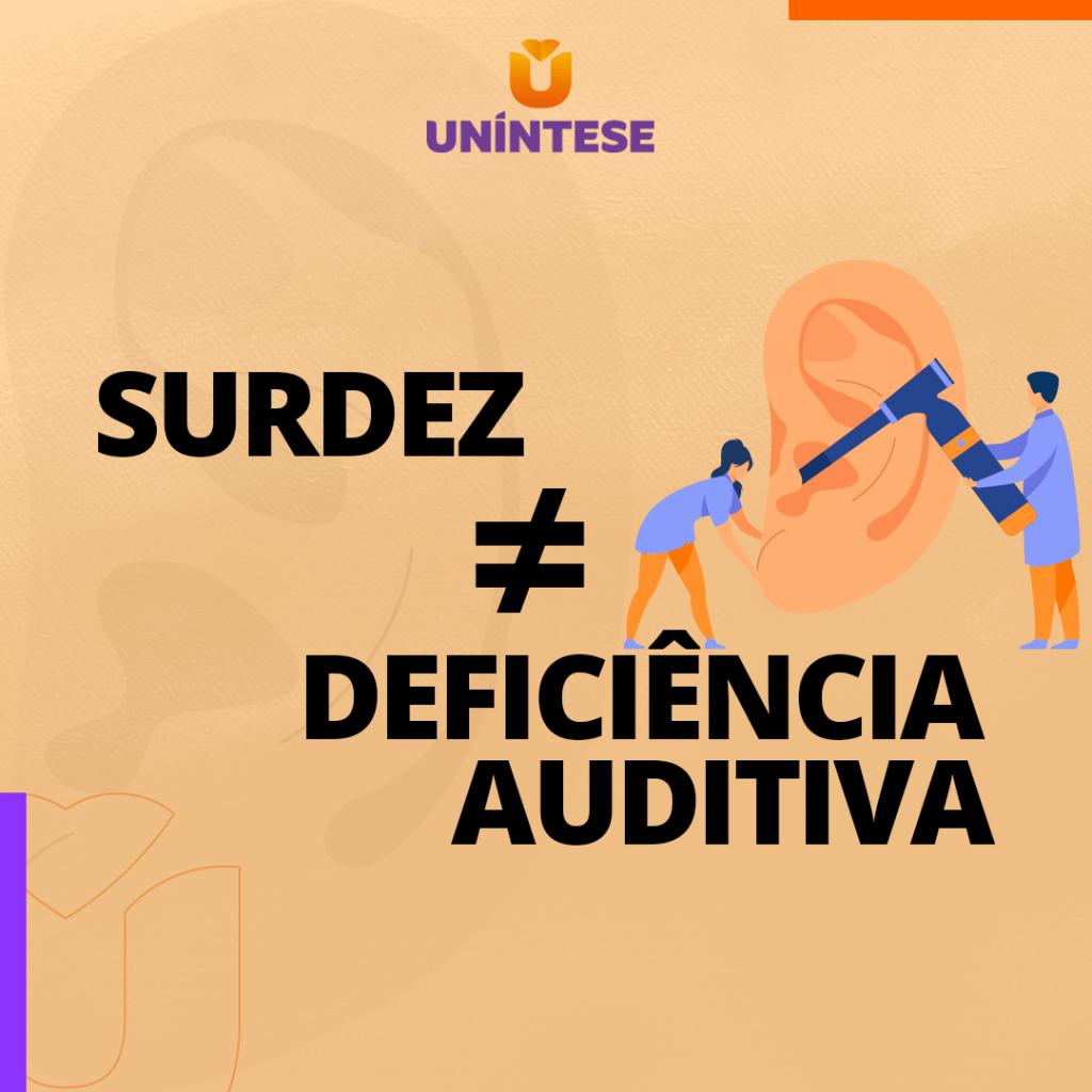 Você sabe a diferença entre surde e deficiência auditiva.